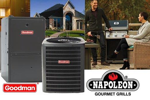 Goodman Furnace and Air Conditioner with a Napoleon BBQ